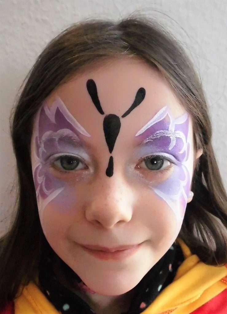 Schminkvorlage Fur Schmetterling Jubelkinder De