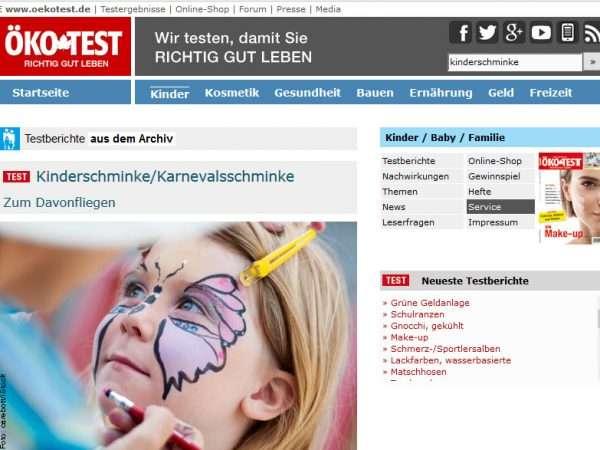 Kinderschminke Test & Vergleich